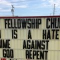 featured image Indiana Church Kicked out of its Building for Sign Message Out Front